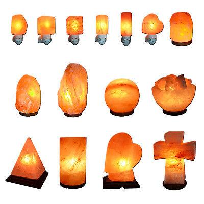 Himalayan Salt Lamp Natural Crystal Rock Shape Dimmer Switch Night Light