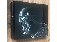 PS4 Star Wars Ltd Ed 1Tb + Street Fighter 5 Console Darth Vader PlayStation 4