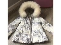 Kids Elsy thick winter coat with fur hood