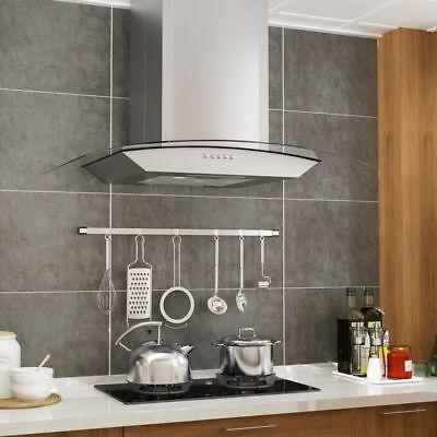 LED Steel 60cm Cooker Hood Kitchen Chimney Range Kitchen Extractor Fan 756 m³/h