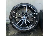 1X 19'' BMW FRONT 405 M 3 SERIES ALLOY WHEEL TYRE SINGLE SPARE 5x120