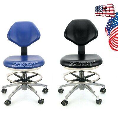 Doctor Pu Leather Adjustable Stool Dentist Hydraulic Rolling Chair Blackblue Us