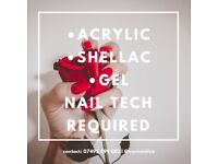 Experienced Nail Tech Required
