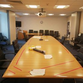 6 metre Boardroom Table, huge Glasgow Showroom