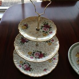 3 tier Staffordshire Cake stand