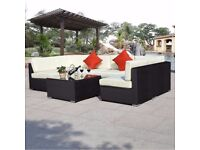 **FREE UK DELIVERY** 7 Piece Rattan Garden Conservatory Corner Sofa- BRAND NEW!