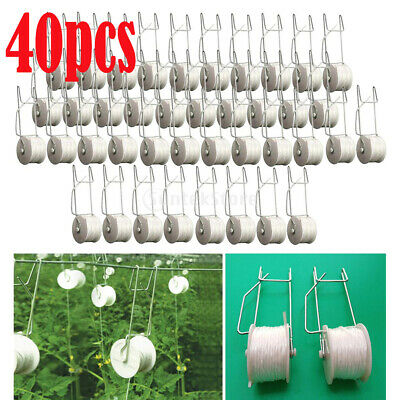 40x Garden Greenhouse Tomato Planting Hooks Clips For Planting Cucumber