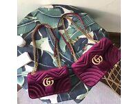 Gucci Bag GG Marmont velvet shoulder bag designer