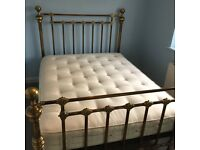 Hand Crafted King Size Antique Brass Bed from And So To Bed.