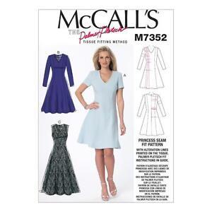 McCALL'S SEWING PATTERN PRINCESS SEAM FIT DRESSES DRESS SIZE 6 - 22 M7352