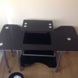 Desk- Glass and metal