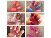£10 for a full set of NSI Acrylic or Gel nail extensions £12 for a CND Shellac manicure or pedicure