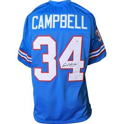 Earl Campbell Signed Oilers Blue Jersey / 5×Pro Bowl (1978–1981,1983) (PSA COA) for sale  Oviedo