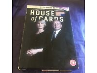 'HOUSE OF CARDS' SERIES 1/2/3 DVD BOXSETS- LIKE NEW