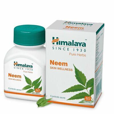 Himalaya Herbal Neem Pure Herbs Natural Ayurvedic 60 Tablets