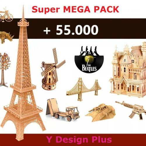 MEGA PACK 55.000+ Laser Cut vector DXF CDR 3D files CNC pantograph Doll House