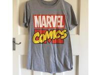 Disney Marvel Comics Red Logo Grey T Shirt