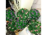 Artificial flower topiary balls x 6