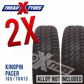 2 x New 165/70R13 Kingpin Pacer Tyre - 165 70 13 - Fitting Available