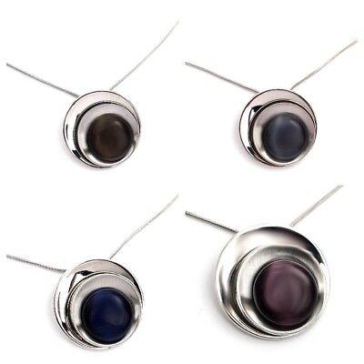 Glas Runder Anhänger ( Schlangenkette, Kette, Halskette, runder Anhänger, Cats Eye Glasstein Farbwahl)