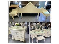 VINTAGE ,SHABBY CHIC ,FRENCH LOUIS BEDROOM SET