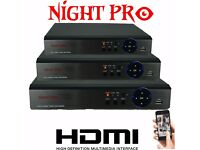 NEW NIGHT PRO DVR 4 CHANNEL 5 IN 1 AHD TVI CVI CVBS IP HYBRID 1080P HDMI P2P CLOUD XMEYE
