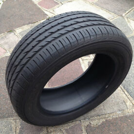 1x 205/55R16 YOKOHAMA Advan Sport MO radial tubeless tyre with lots of tread left, useful as spare
