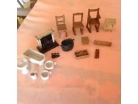 Dolls house furniture (90 + YEARS OLD)