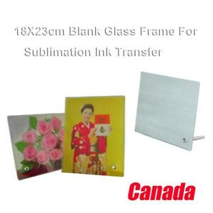 4pcs Blank Glass Photo Picture Frame for Sublimation Transfer Art (001324)