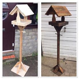 Hand made bird tables