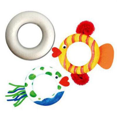 5 Pieces White DIY Circle Ring Styrofoam Foam Material for Art Craft 110mm](Styrofoam Circles)