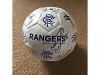 2016/2017 Rangers 1st Team Signed Football