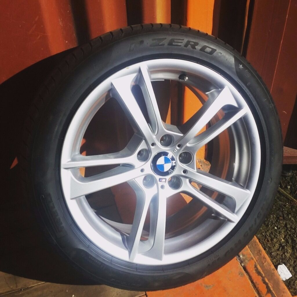 bmw x1 alloy wheel with pirelli pzero run flat tyre 6mm 245/45/r19