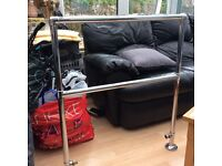 Traditional chrome heated towel rail, excellent condition