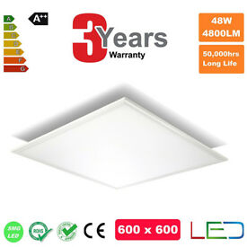 SUSPENDED CEILING LED PANEL 48 600X600 DAY LIGHT 4800 LUM 6500K HIGH QUALITY 3 YEARS WARR