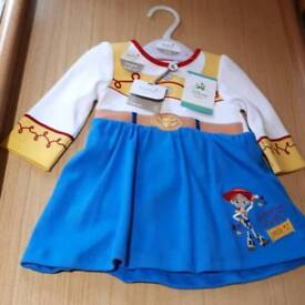 BNWT Quality Jessie from toy story dress with built in bodysuit 0-3 months