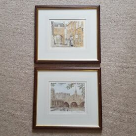 Pair of limited edition prints of Bath by Glyn Martin
