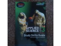 APPLIED SCIENCE - STUDY SKILLS GUIDE. LEVEL 3. BRAND NEW! ONLY £3.50