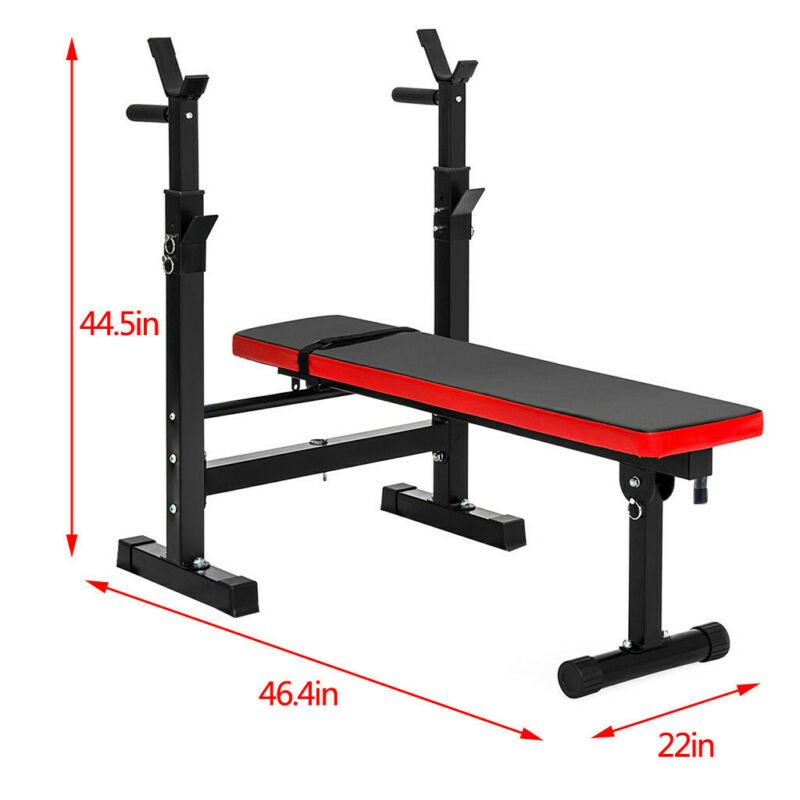 Weight Training Bench Duty Steel Gym Barbell
