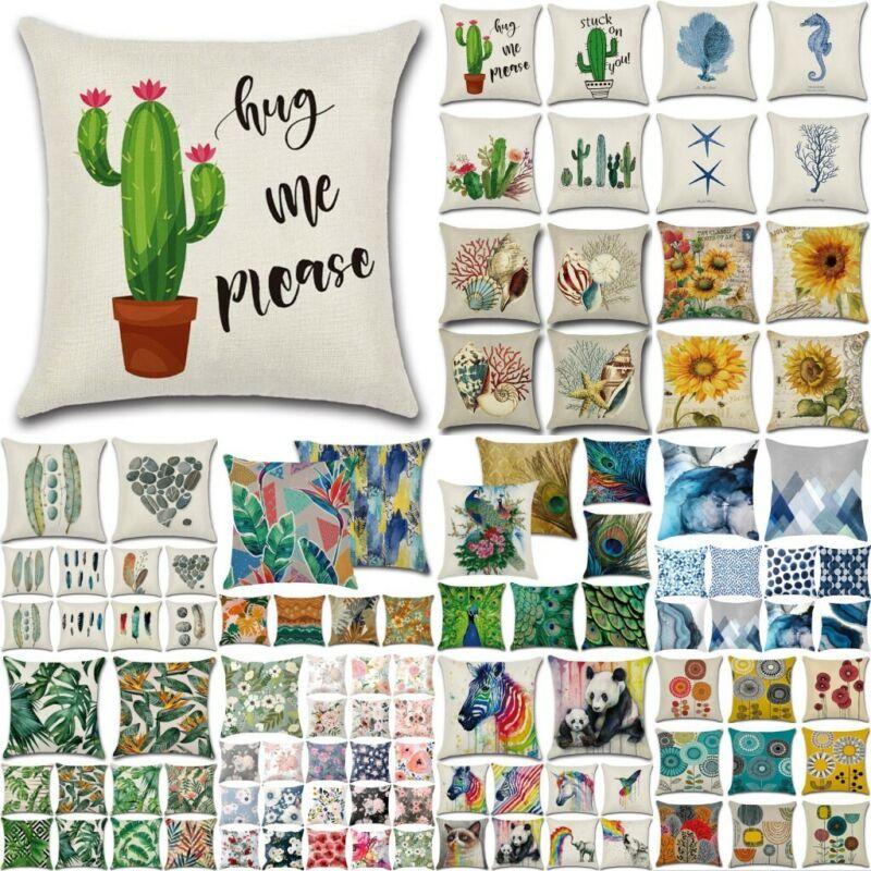 18'' Sofa Throw Waist Pillow Case Cushion Cover Home Garden