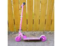 Pink kids scooter