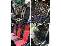 LEATHER CAR SEATCOVERS FOR TOYOTA PRIUS TOYOTA PRIUS PLUS IMPORT FORD GALAXY SMAX VW SHARAN SHARON