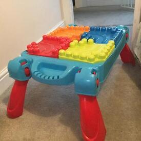Mega blox table