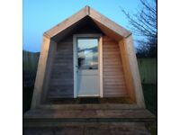 Double Glamping pod 5m by 3m. Excellent condition. £4000