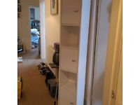 URGENT - MUST GO ASAP - WHITE SHELVING UNIT - BATHROOM / BEDROOM STORAGE