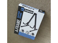 NEW BOXED adjustable A-frame (spring loaded) STAND for GUITAR Electric/Bass/Acoustic