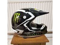 ONE Industries Kombat Motocross Helmet- Small 55-56 cm, Black Monster Energy GC