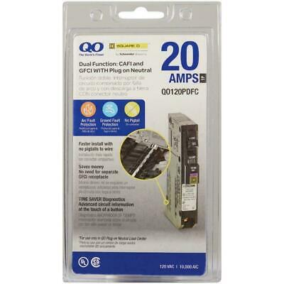 New Square D Qo120pdfc 20-amp Dual Function Cafigfci Circuit Breaker