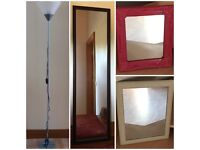 Free mirrors & floor lamp (No longer wanted)