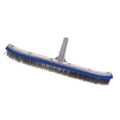 "Swimming Spa Pool Cleaning Wall Floor Brush Deluxe Supplies 18"" Steel Wire"